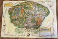 Walt Disneyland Large Wall Map Guide Sign Poster Disney Vintage 27 x 39 Mickey