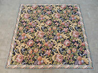 Large Vintage French Beautiful Flowers Scene Tapestry 147x147cm (A443)