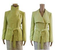 ex Debenhams Principles by Ben de Lisi Jacket -  Light Green Wrap Short Coat