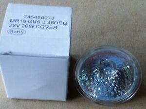 Halogenlampe 28V - 20W - GU3.5 - 36DEG - MR16 - 3 Stück neu