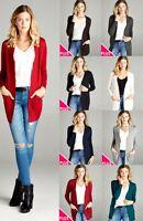 NWT Knit Open Front Cardigan LONG Length Sweater PLUS SIZE XL/1X/2X Free Ship