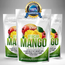 PURE African Mango Extract Pills x 60 MAX Strength Weight Loss Detox Tablets