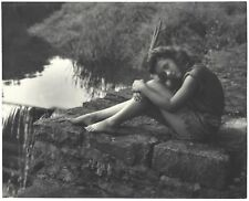 Fine Art Deco Camera Club '30s Photograph Sexy Barefoot Leggy Maiden H.R. Cremer