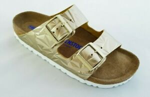 BIRKENSTOCK ARIZONA 1008482 Spectral Platin pelle SOFT zoccoli sandali donna 41