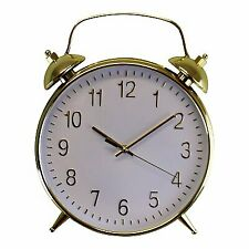Gold and White  Wall Alarm Clock
