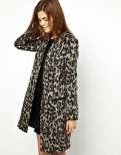 FRENCH CONNECTION FCUK stylish no buttons leopard coat NWOT $250 zara