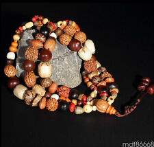 Fancy 108 Bodhi Seed Prayer Beads Mala Bracelet Tibet Buddhist Lucky blessing