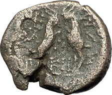 THESSALONICA Macedonia 148BC RARE Genuine Ancient Greek Coin ZEUS & GOATS i61555