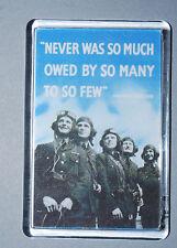 World War II Magnet - Winston Churchill - RAF - Battle of Britain - 1939-45