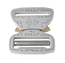"AustriAlpin 45mm 1.75"" Chrome Cobra Buckle -Male Adjustable Female Fixed FC45AVF"