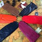 Women's Genuine Lambskin Leather Driving Lining Gloves Winter Warm Elegant
