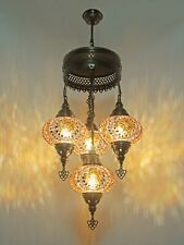 Turkish Mosaic Lamp Chandelier 4 GLOBE