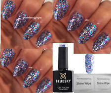 BLUESKY SP11 BLUE PURPLE +SILVER GLITTER SPARKLE NAIL GEL POLISH UV LED SOAK OFF