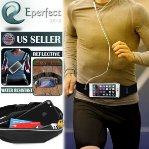 Gym Fitness Sport Runner Waist Bum Bag Running Belt Jogging Pouch Zip Fanny Pack