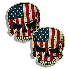 Rustic American Skull USA Flag Decal Sticker Car Truck Laptop Cup Custom Graphic