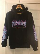 THRASHER MAGAZINE HOODIE Large 100% Authentic FLAMES Near DEADSTOCK