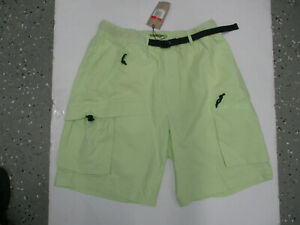 NIKE X ACG ALL CONDITIONS GEAR LARGE LIGHT GREEN CARGO SHORTS NEW W/ TAGS