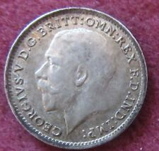 British - 1916  George V  Three Pence - Silver coin.