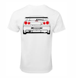NISSAN SKYLINE R34 GTR RB26 T-SHIRT COTTON RACE CAR TURBO JDM DRIFT SHIRT