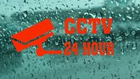 2x CCTV 24/7 Warning Car Van Window Shop Sticker Vinyl  Decal Laptop Bumper