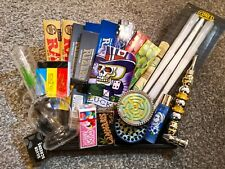 More details for deluxe smoker stoner set gift hamper metal grinder water pipe roach tips clipper