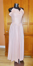 Vtg 70s Dance Allure Alfred Angelo Powder Pink Boho Wedding Party maxi DRESS