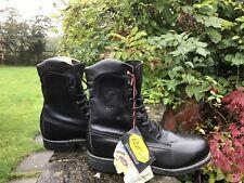 Chippewa Black Melo Veal Steel Toe Rugged Trooper  20242 8 Inch Boots UK 8 EU42