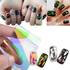 Colorful Water Transfer Nail Art Stickers 3D Decoration Flower Design Decal Tips
