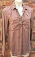 Long sleeve shirt top size M fit AUS 12 New with defects (fp34)