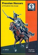 Waterloo 1815 Miniatures 1/72 PRUSSIAN HUSSARS of FREDERICK THE GREAT Figure Set
