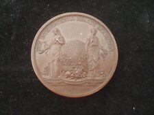 VICTORIAN BRONZE MEDALLION 45mm 1884 THE INTERNATIONAL HEATH EXHIBITION