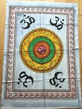 Om   Indian  Batik   Cotton  Wall  Hanging  !!     Brand New !!