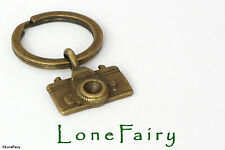 Bronze Plated SLR Camera Keyring Key Chain Photography