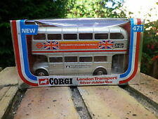 CORGI 471 BUS ANGLAIS LONDON TRANSPORT Silver Jubilée WOOLWORTH 1976 neuf boite