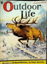 Vintage Outdoor Life January 1934 Hunting Fishing Camping Sporting