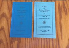 By-Laws, Roster Officers Members Corinthian Masonic Lodge New Orleans 1949 1954