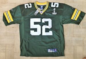 NEW Reebok Clay Matthews Green Bay Packers Super Bowl 45 Commemorative Jersey M