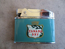 vintage Canada Dry Gingerale Soda Penguin Flat Advertisor Lighter
