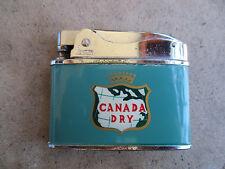 vintage Canada Dry Gingerale Soda Penguin Flat Advertisor Lighter