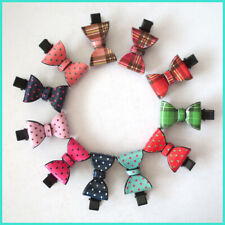 "10 BLESSING Good Girl 2"" Acrylic Bowknot Hair Bow  Clip Accessories Women"