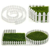 Wood Fence Miniature Fairy Garden Kit Terrarium Doll House DIY Accessories Decor