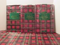 CHRISTMAS Holiday Red Plaid Kitchen Party Vinyl & Flannel Backed Tablecloth