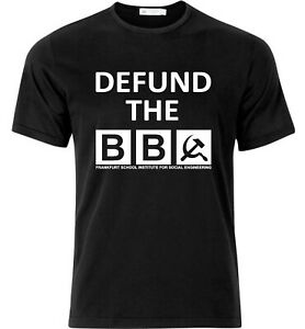 Defund The BBC Anti Social Engineering Protest T Shirt Black