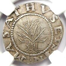 1652 Massachusetts Oak Tree Shilling 1S - Certified NGC AU Details - Rare Coin!