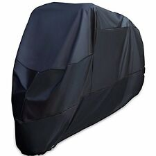 Black Motorcycle Motor Bike Scooter UV Dust Protector Rain Cover Large XXL
