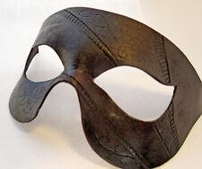 Strisce nere e spirali in pelle fatti a mano Maschera Veneziana Ballo in Maschera