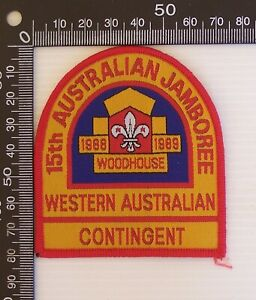 VINTAGE SCOUTS 15th JAMBOREE 1988 WOODHOUSE WESTERN AUSTRALIAN CONTINGENT BADGE