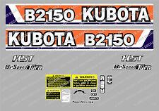KUBOTA B2150 HST COMPATTO Trattore ADESIVO DECALCOMANIA