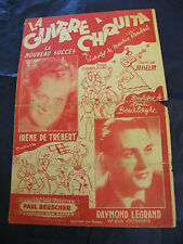 Partition La guitare à chiquita Irène de Trébert Raymond Legrand 1944Music Sheet