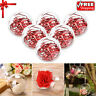 5~20pcs Clear Plastic Balls Christmas DIY Baubles Fillable Xmas Tree Ornament